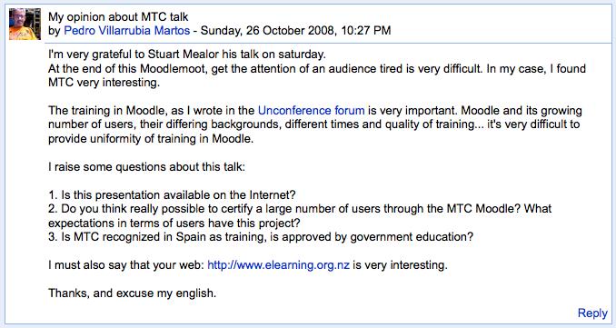 Barcelona forum screenshot